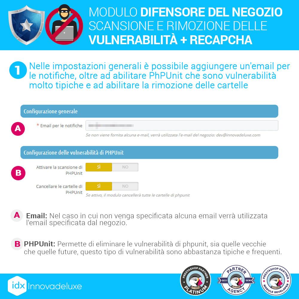 module - Strumenti per l'amministrazione - Store Defender (Rimozione malware + Firewall) - 2