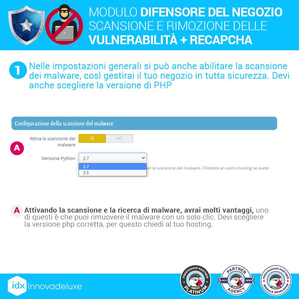 module - Strumenti per l'amministrazione - Store Defender (Rimozione malware + Firewall) - 4