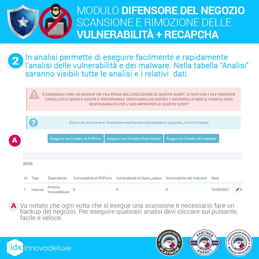 module - Strumenti per l'amministrazione - Store Defender (Rimozione malware + Firewall) - 5