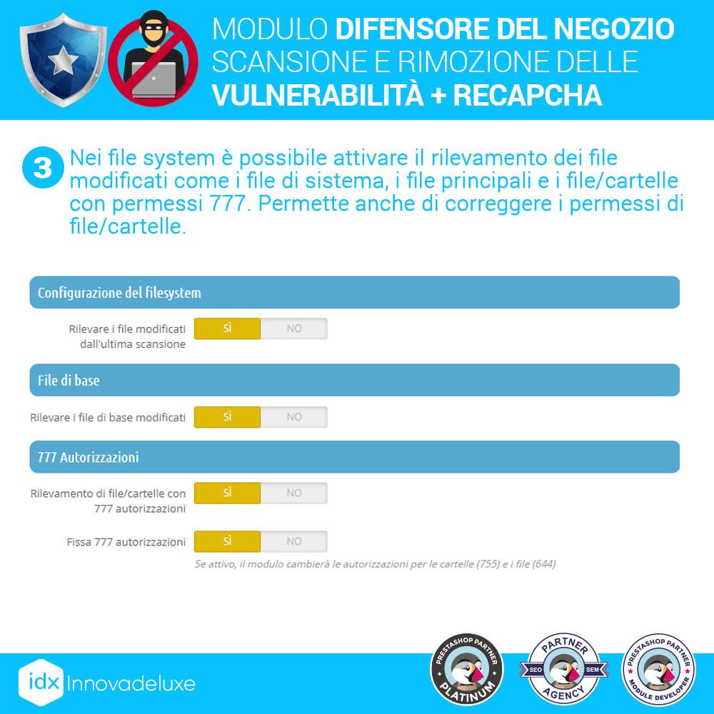 module - Strumenti per l'amministrazione - Store Defender (Rimozione malware + Firewall) - 6