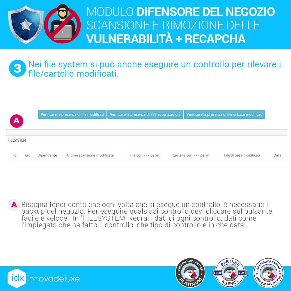 module - Strumenti per l'amministrazione - Store Defender (Rimozione malware + Firewall) - 7