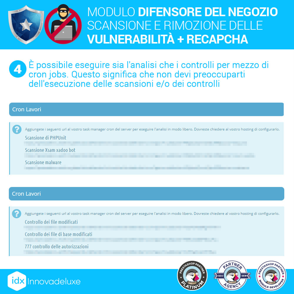 module - Strumenti per l'amministrazione - Store Defender (Rimozione malware + Firewall) - 8