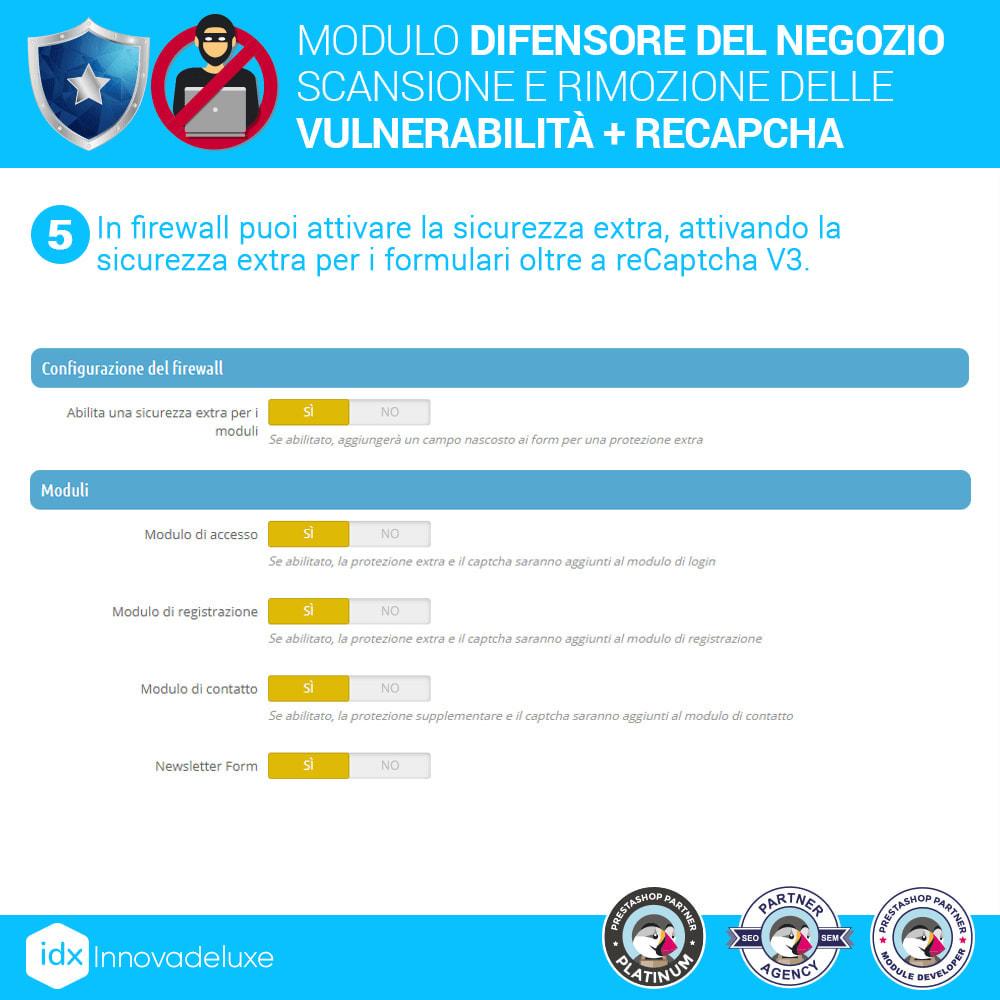 module - Strumenti per l'amministrazione - Store Defender (Rimozione malware + Firewall) - 9