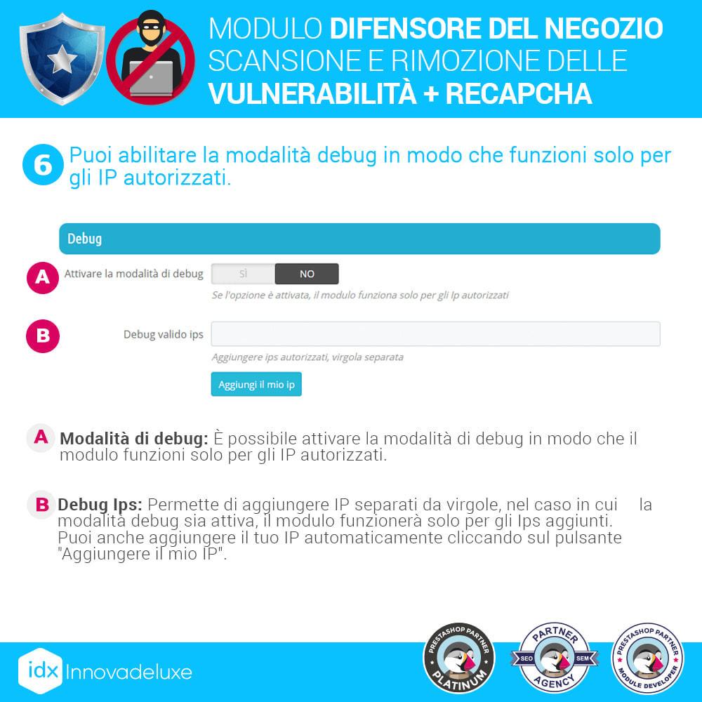 module - Strumenti per l'amministrazione - Store Defender (Rimozione malware + Firewall) - 10