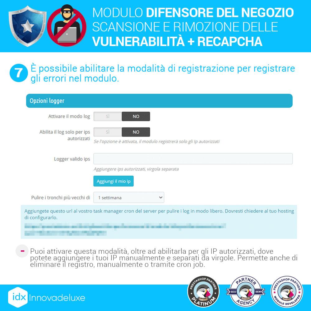 module - Strumenti per l'amministrazione - Store Defender (Rimozione malware + Firewall) - 11