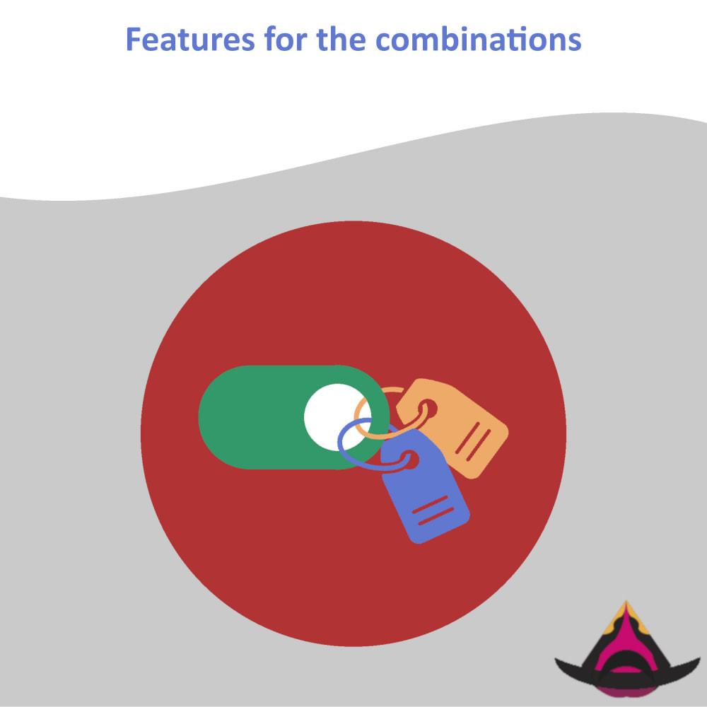 module - Versies & Personalisering van producten - Features for the combinations - 1