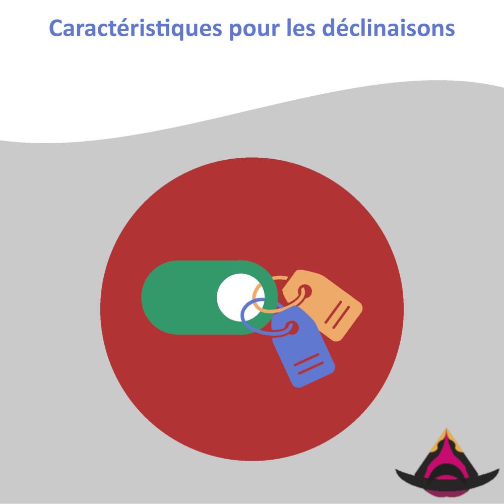 module - Déclinaisons & Personnalisation de produits - Caractéristiques pour les déclinaisons - 1