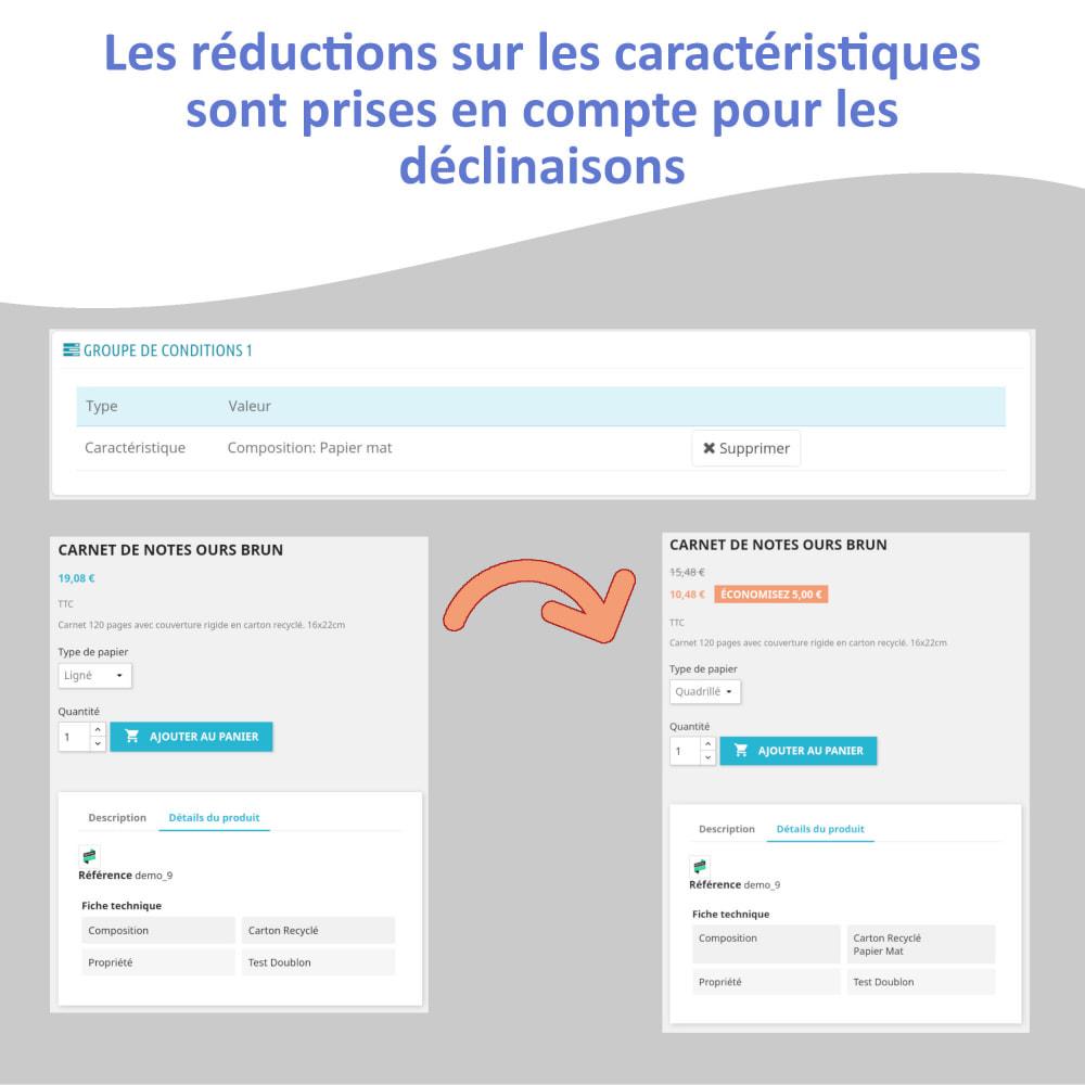 module - Déclinaisons & Personnalisation de produits - Caractéristiques pour les déclinaisons - 4