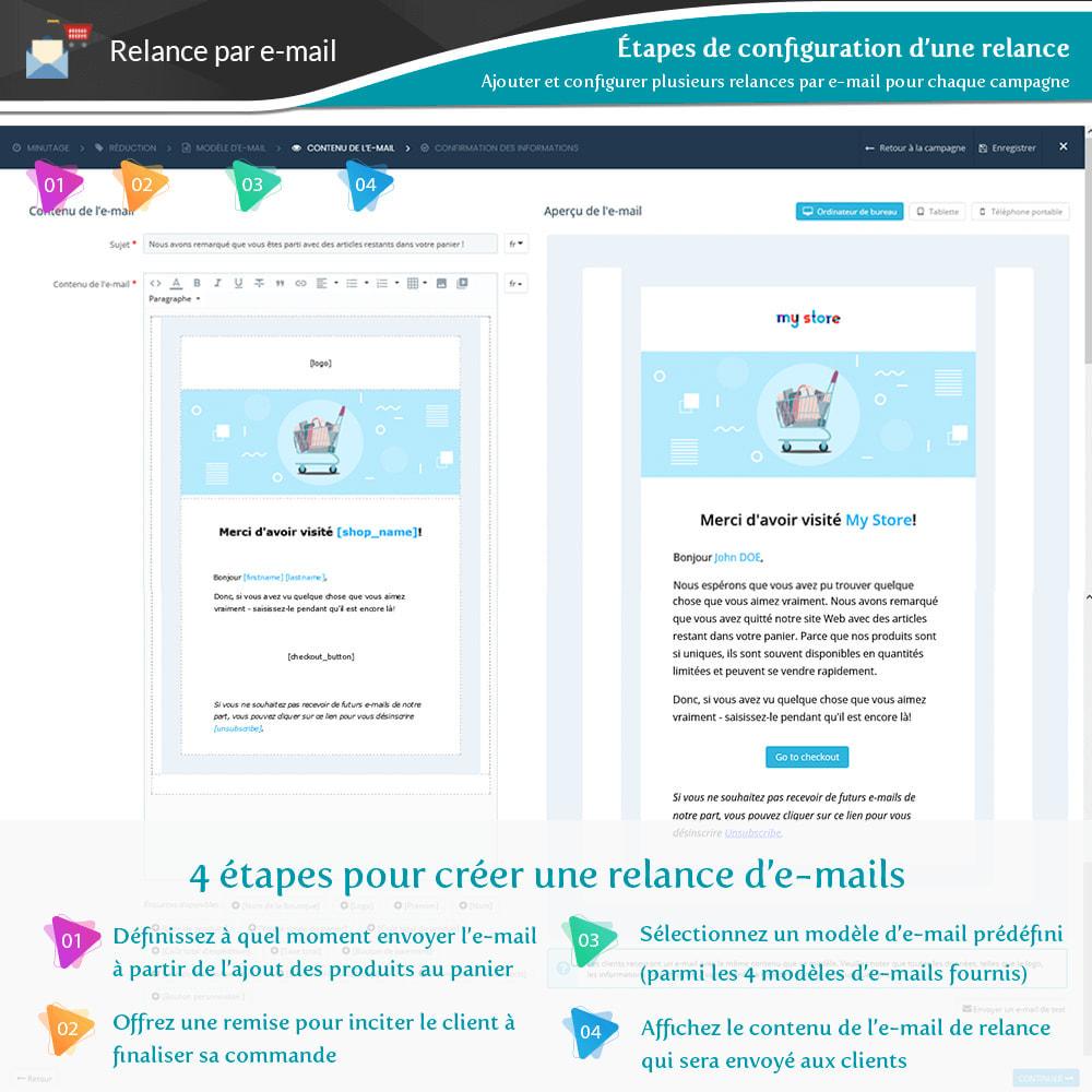 module - Remarketing & Paniers Abandonnés - Relance des paniers abandonnés + E-mails automatiques - 9