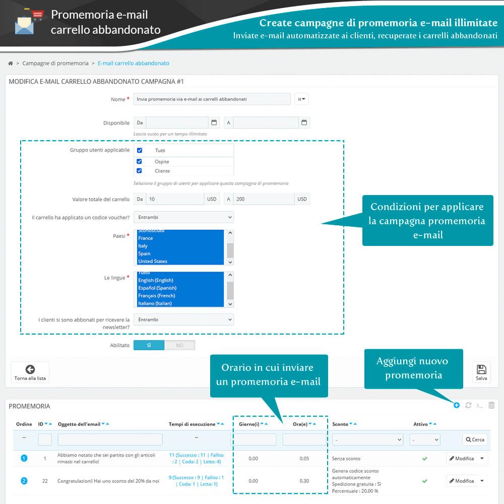 module - Remarketing & Carrelli abbandonati - Promemoria carrello abbandonato + Email automatica - 8