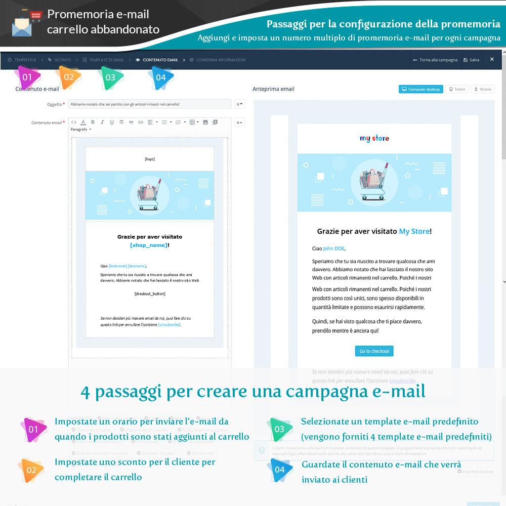 module - Remarketing & Carrelli abbandonati - Promemoria carrello abbandonato + Email automatica - 9