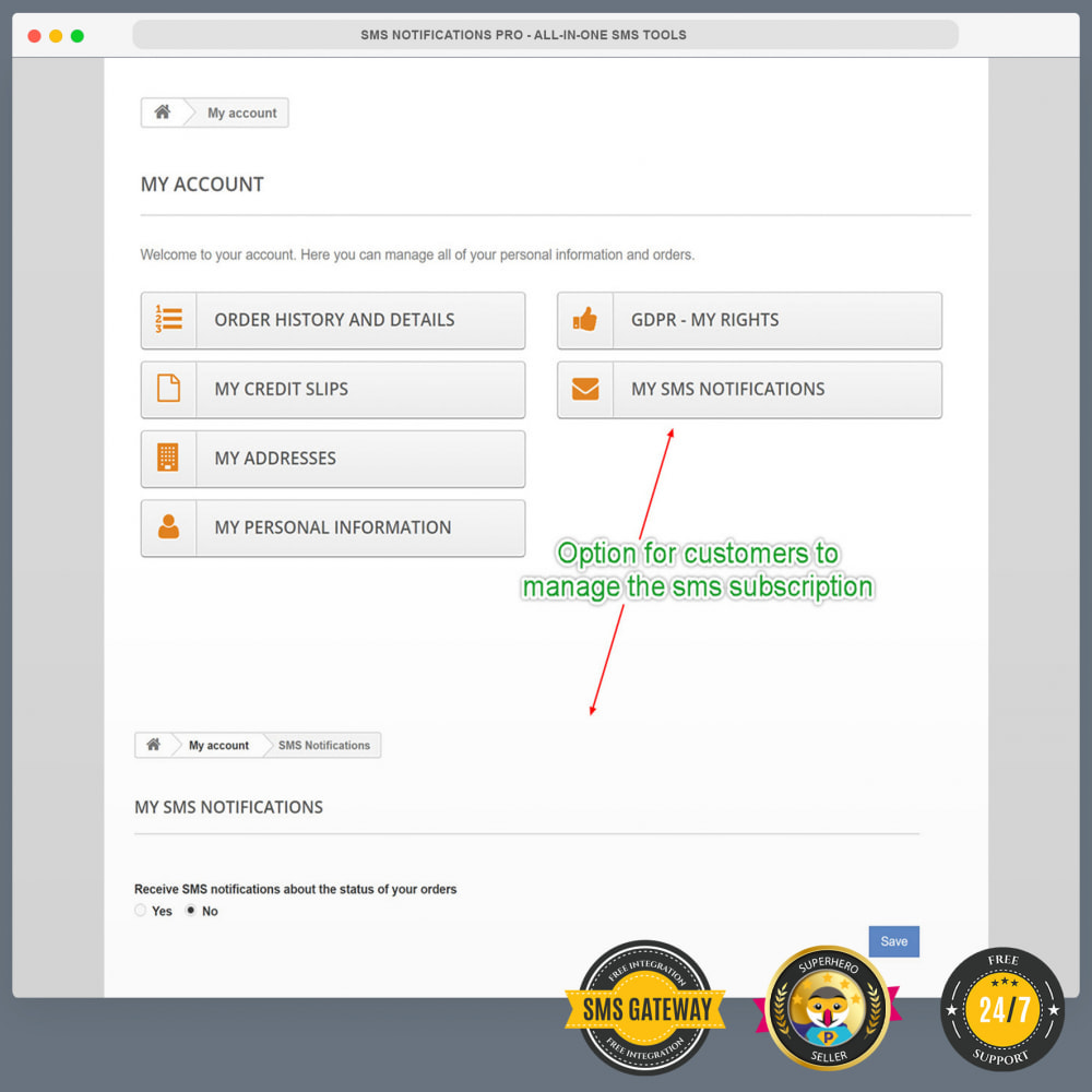 module - Dispositivos móviles - SMS Notifications PRO - All-in-one SMS Tools - 10