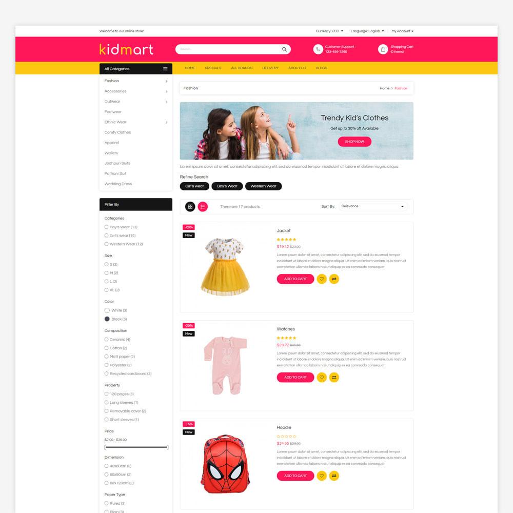 theme - Fashion & Shoes - Kidmart - Fashion Store - 3