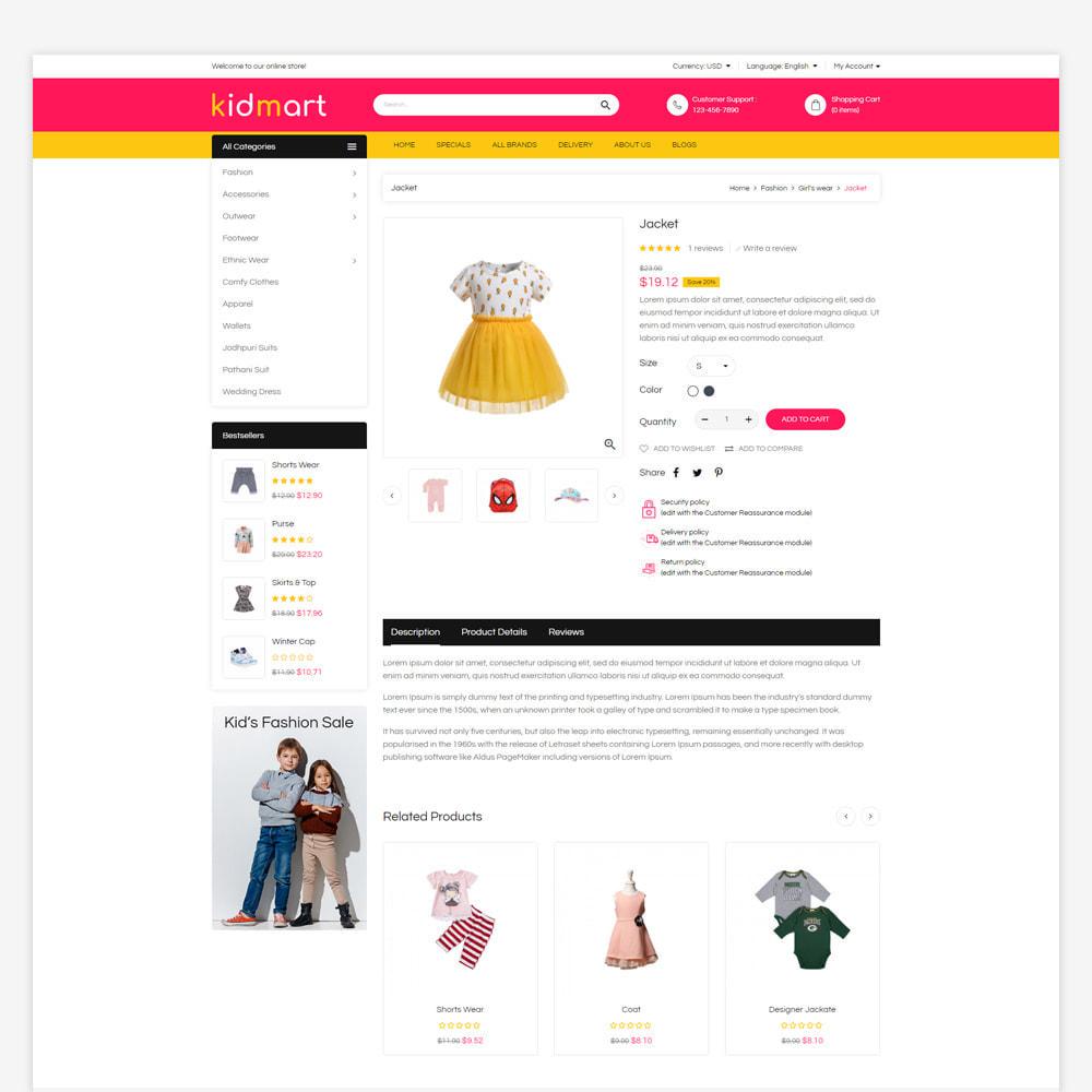 theme - Fashion & Shoes - Kidmart - Fashion Store - 4