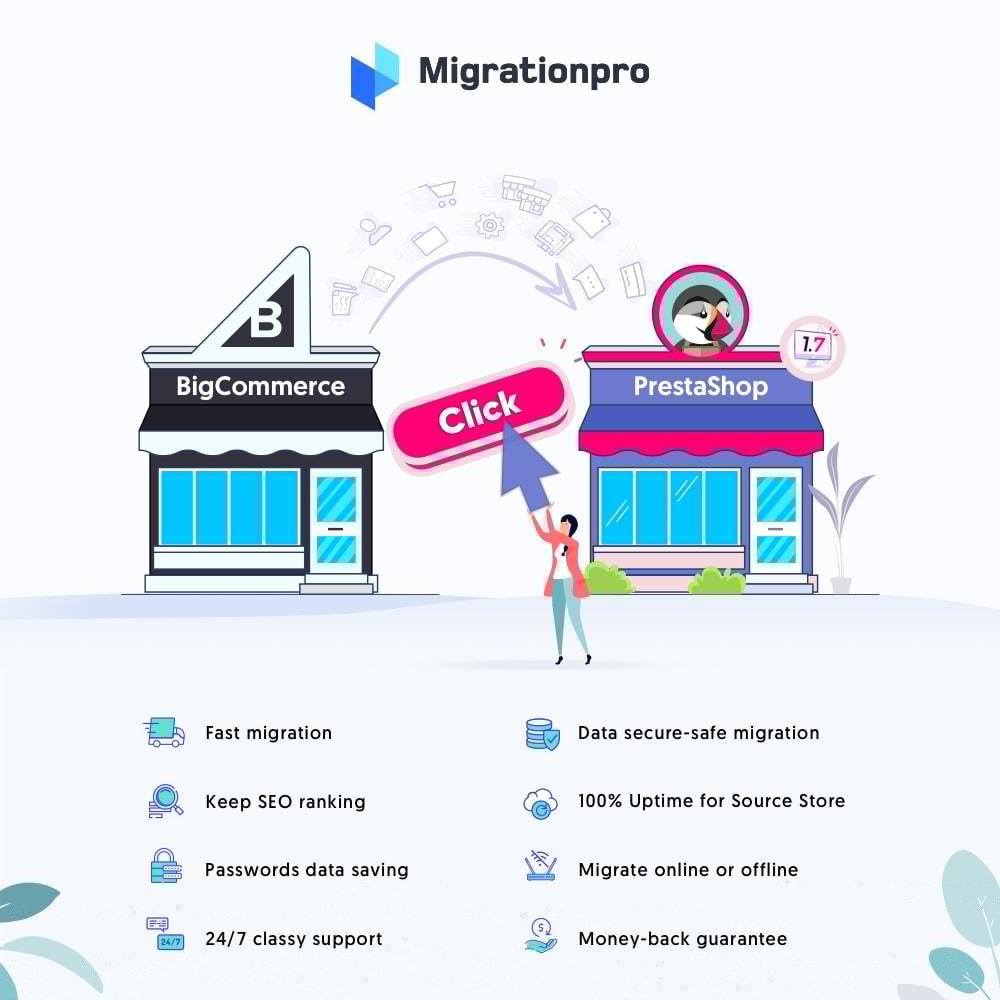 module - Migratie & Backup - MigrationPro: BigCommerce to PrestaShop Migration Tool - 1