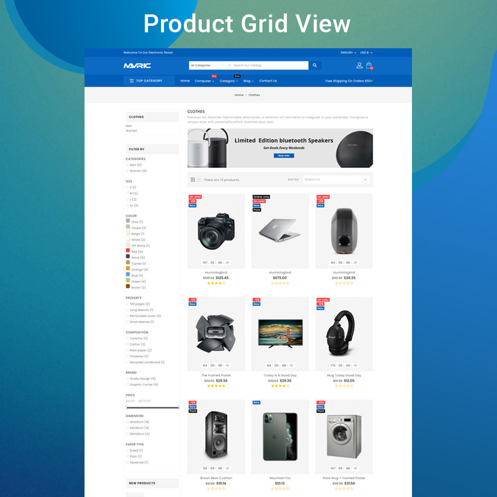 theme - Electronics & Computers - Mavrick Mega Online Multipurpose Electronic Store - 4