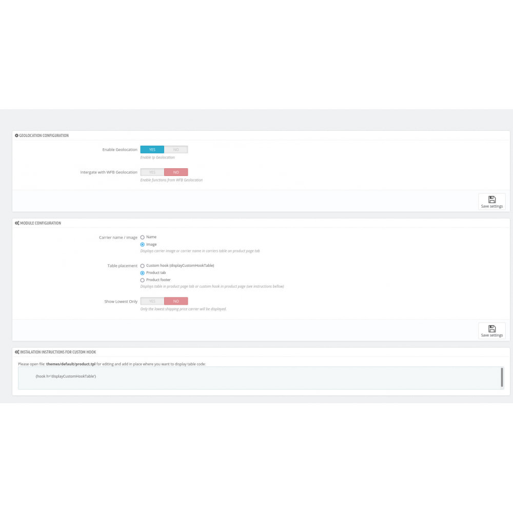 module - Koszty wysyłki - WFB Geo Shipping Costs and time in product page - 2