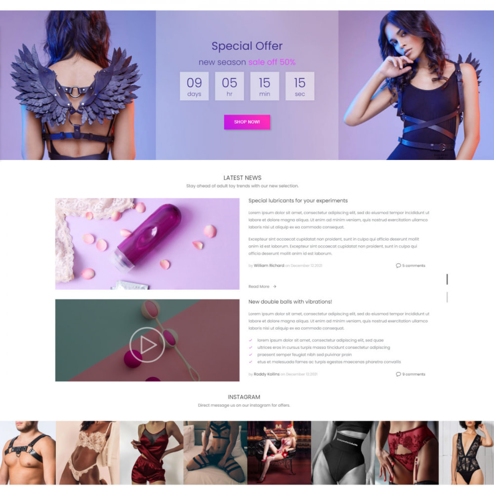 theme - Lingerie & Volwassenen - SexShop & Adult - Fashion Lingerie, Clothes, Toys, Love - 3