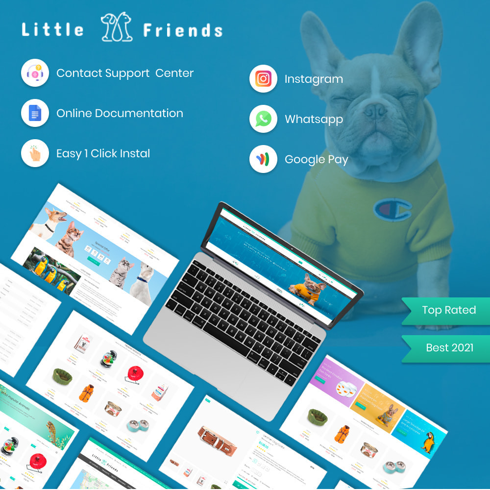 theme - Animaux - Animals & Pets Care - Food, Clothes, Toys - 1