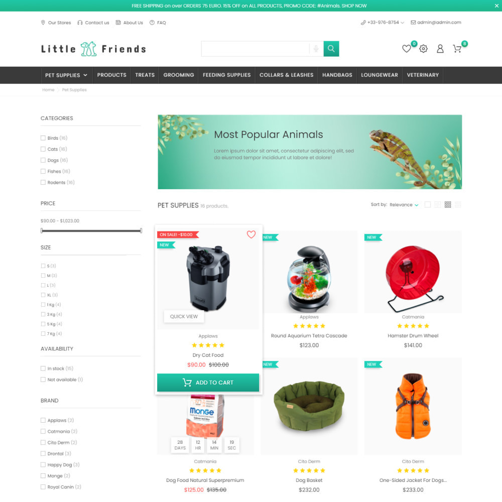 theme - Animaux - Animals & Pets Care - Food, Clothes, Toys - 5