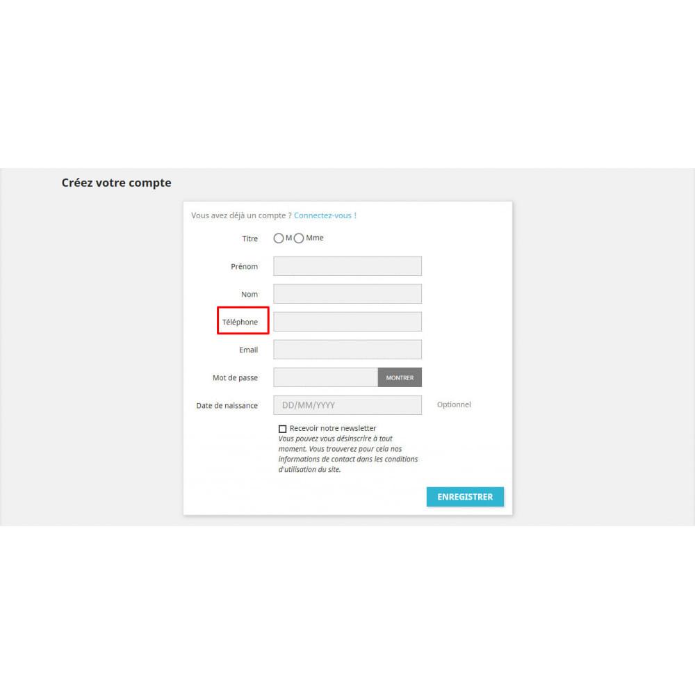module - Mobile - Ajouter téléphone au formulaire d'inscription - 2