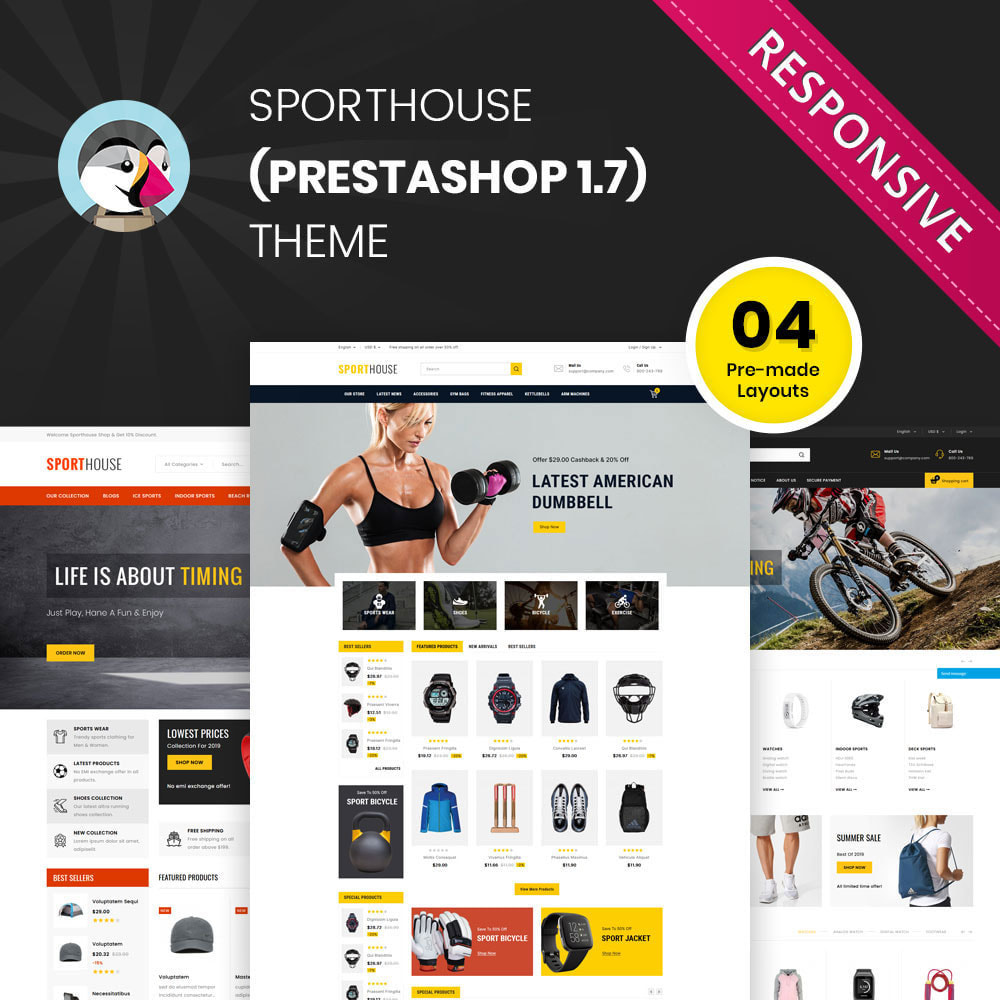 theme - Deportes, Actividades y Viajes - Sport House Tienda de deportes en línea - 1