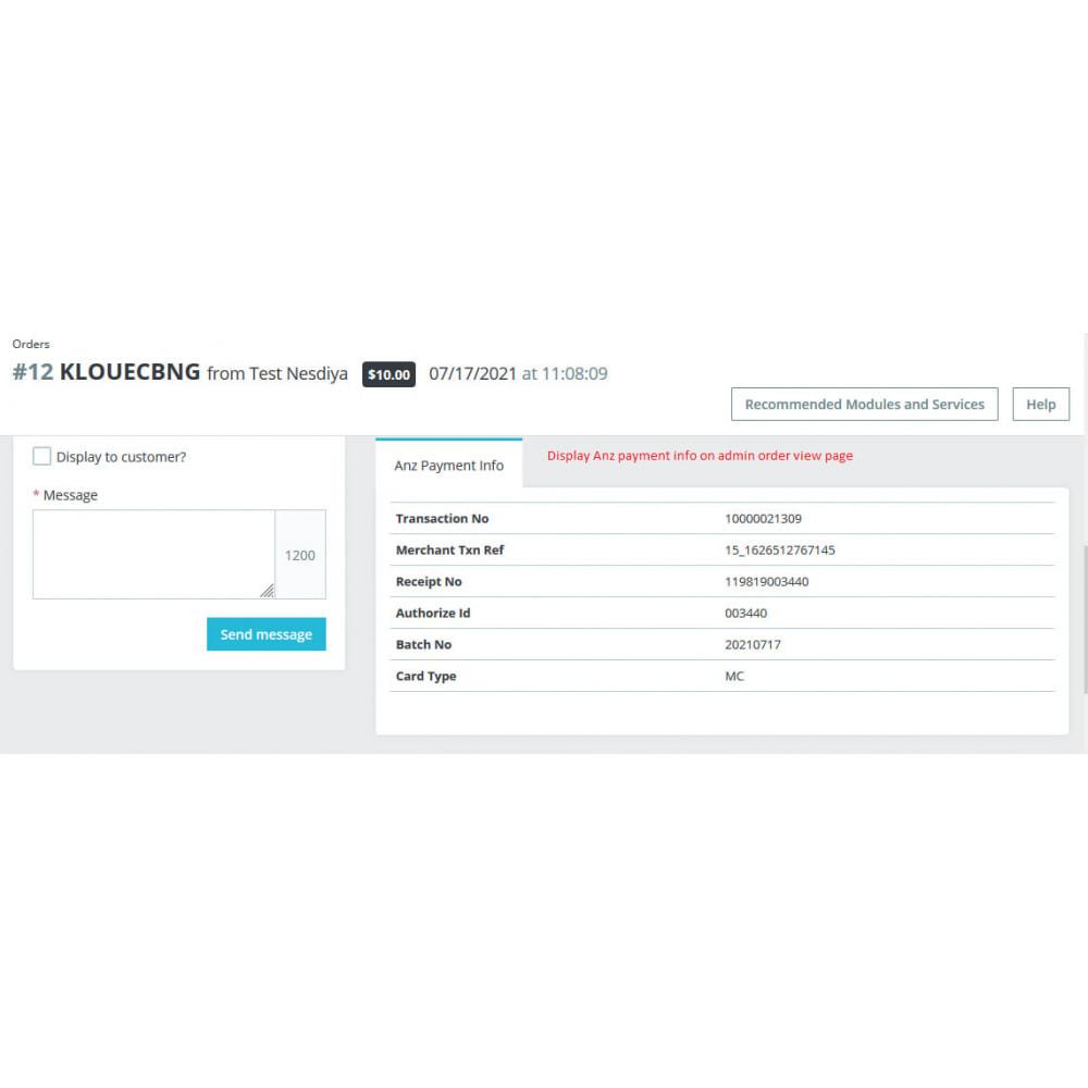 module - Оплата банковской картой или с помощью электронного кошелька - ANZ eGate Payment - 8