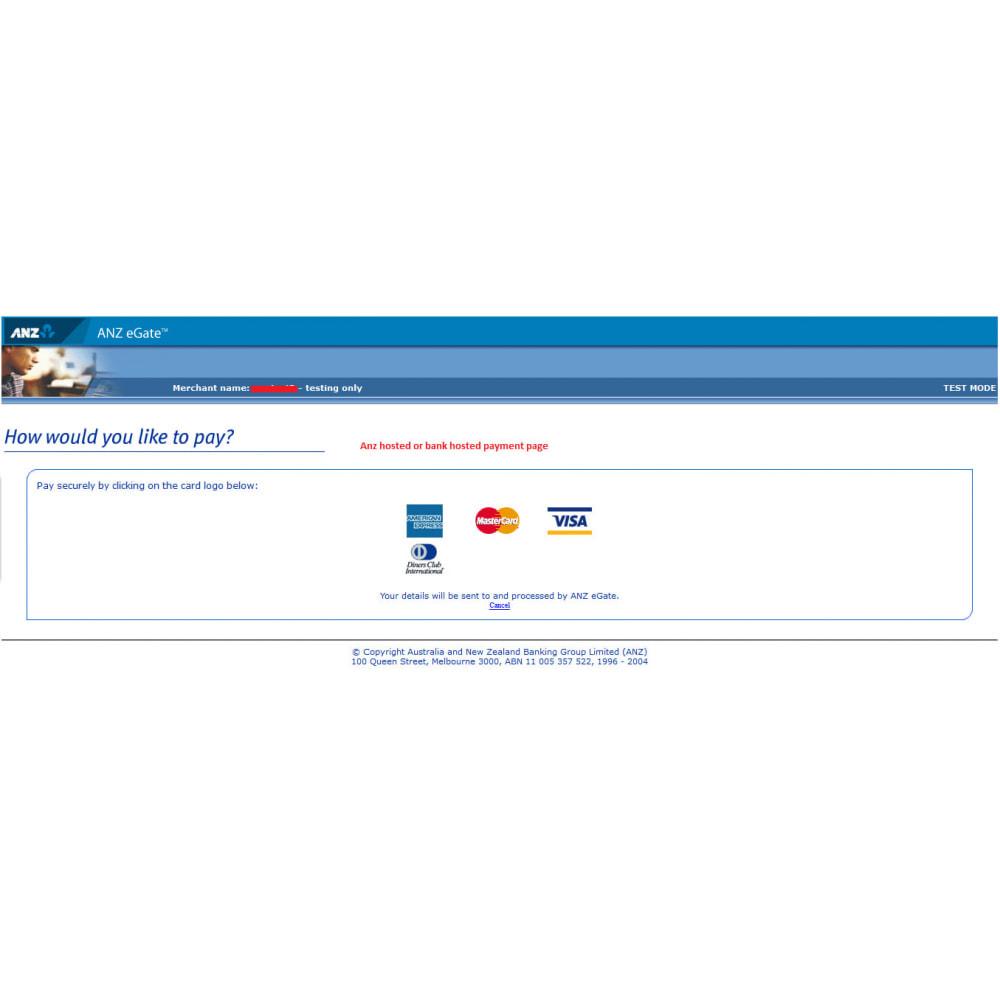 module - Оплата банковской картой или с помощью электронного кошелька - ANZ eGate Payment - 9