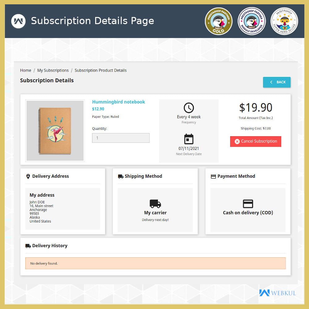 module - Terugkerende betaling (abonnement) - Subscription Products | Recurring Payments - 11