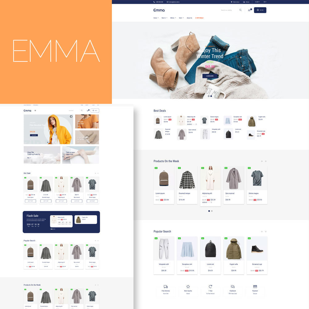 theme - Fashion & Shoes - Emma Fashion Store - 1