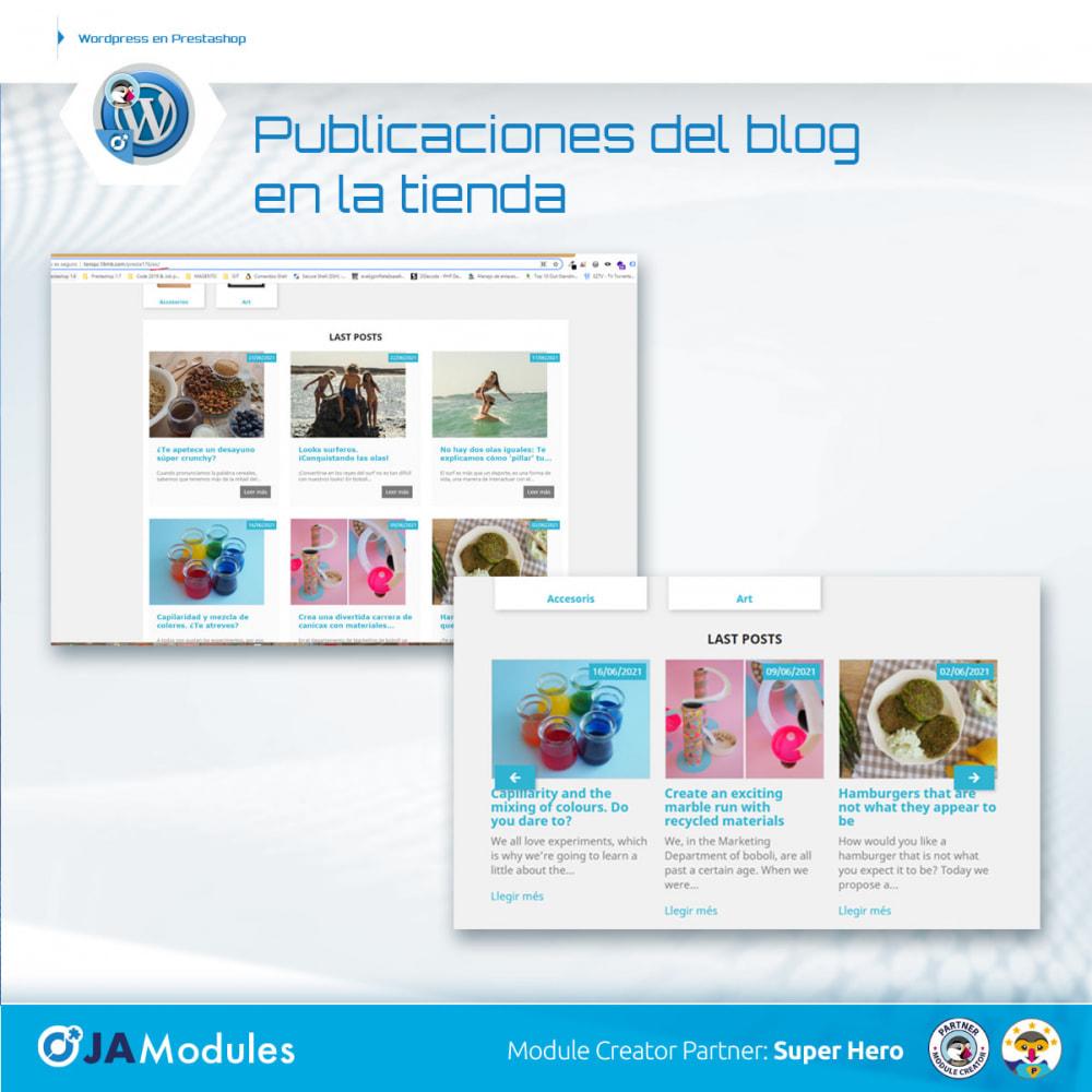 module - Blog, Foro y Noticias - WordPress Integración - 5