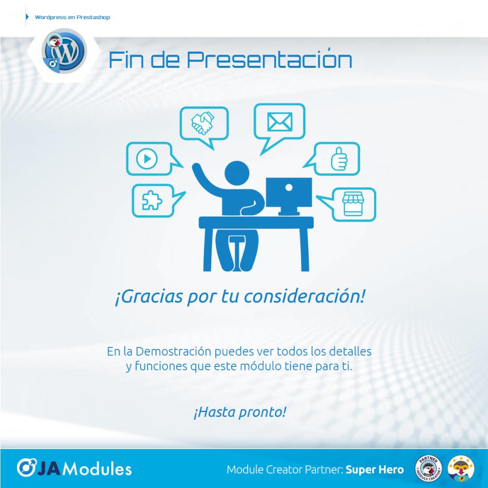 module - Blog, Foro y Noticias - WordPress Integración - 6