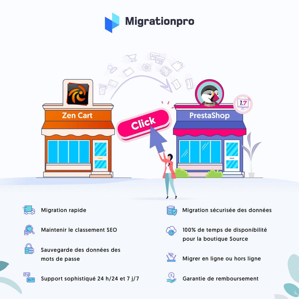 module - Migration de Données & Sauvegarde - Outil de migration Zen Cart vers  PrestaShop - 1