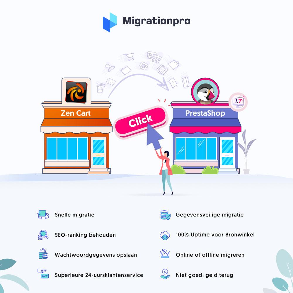 module - Migratie & Backup - Zen Cart naar PrestaShop migratie tool - 1