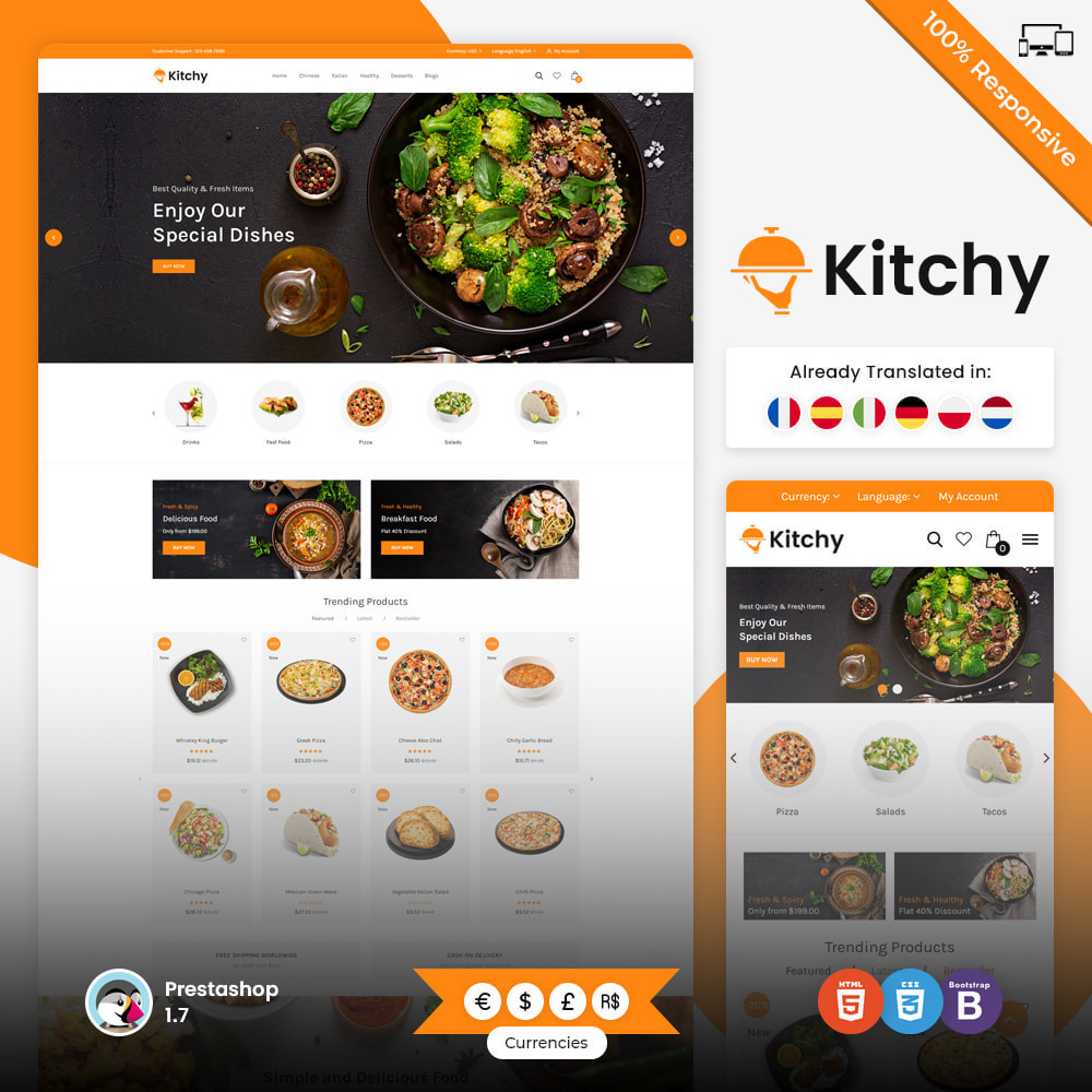 theme - Food & Restaurant - Kitchy - Food Store - 1