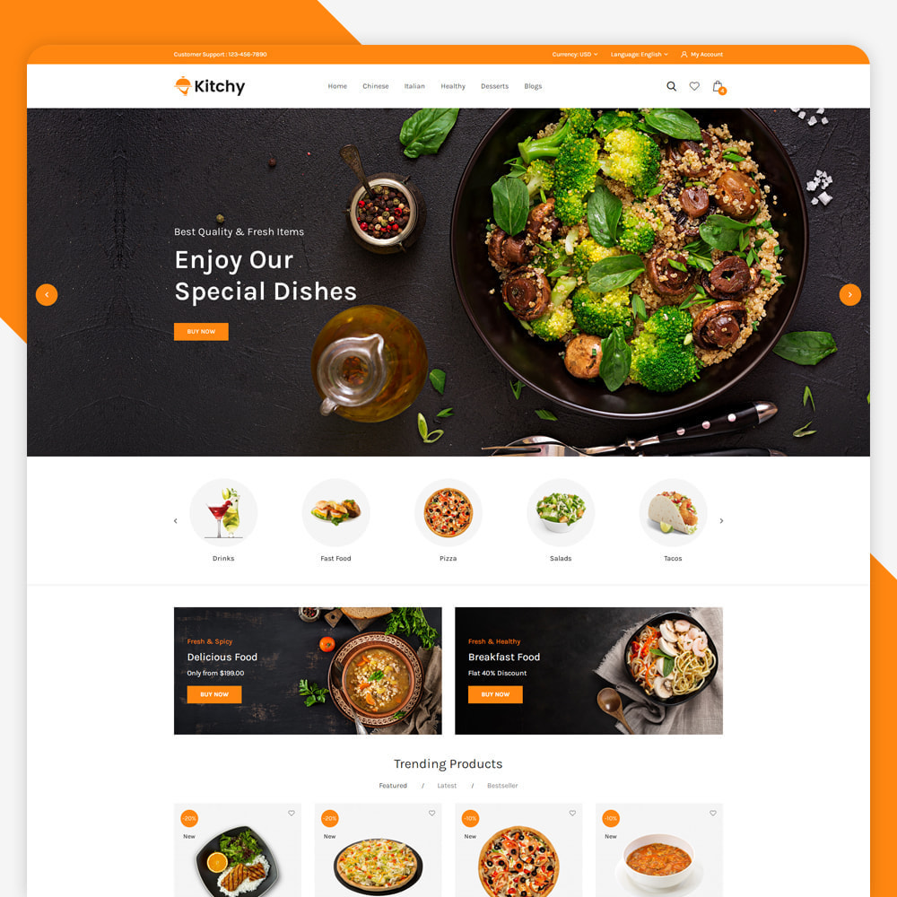 theme - Food & Restaurant - Kitchy - Food Store - 2