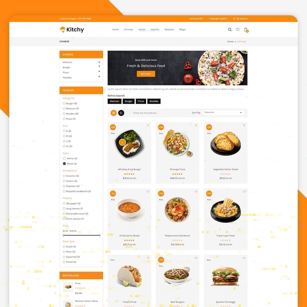 theme - Food & Restaurant - Kitchy - Food Store - 3