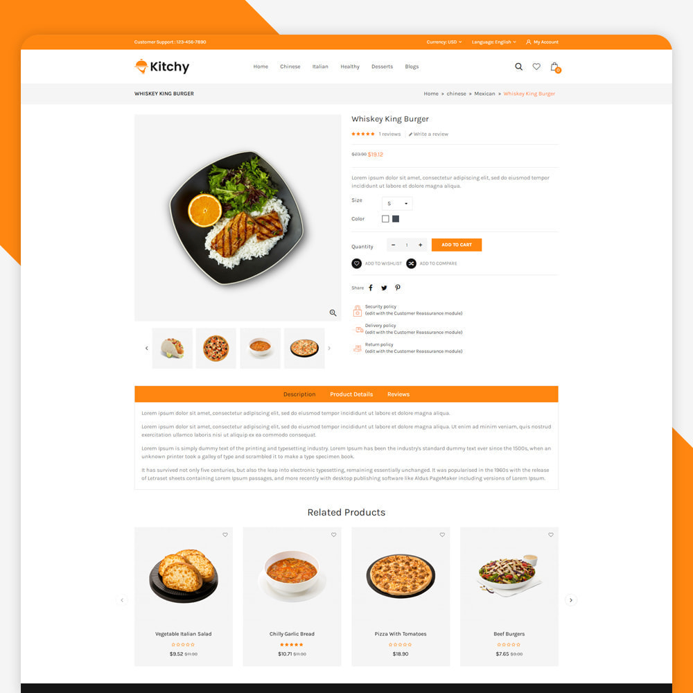 theme - Food & Restaurant - Kitchy - Food Store - 4