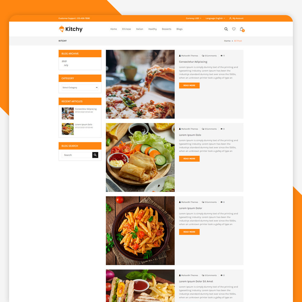 theme - Food & Restaurant - Kitchy - Food Store - 5