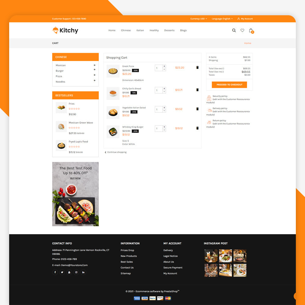 theme - Food & Restaurant - Kitchy - Food Store - 6