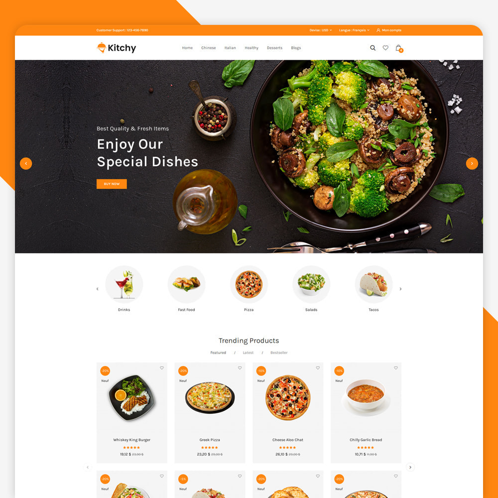 theme - Alimentation & Restauration - Magasin d'alimentation Kitchy - 2