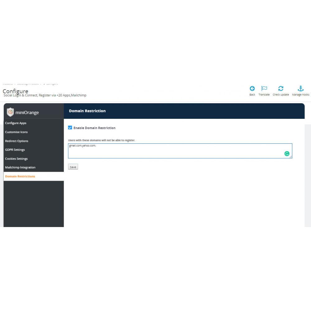 module - Social Login & Connect - Social Login & Connect, Register via +25 Apps,Mailchimp - 11