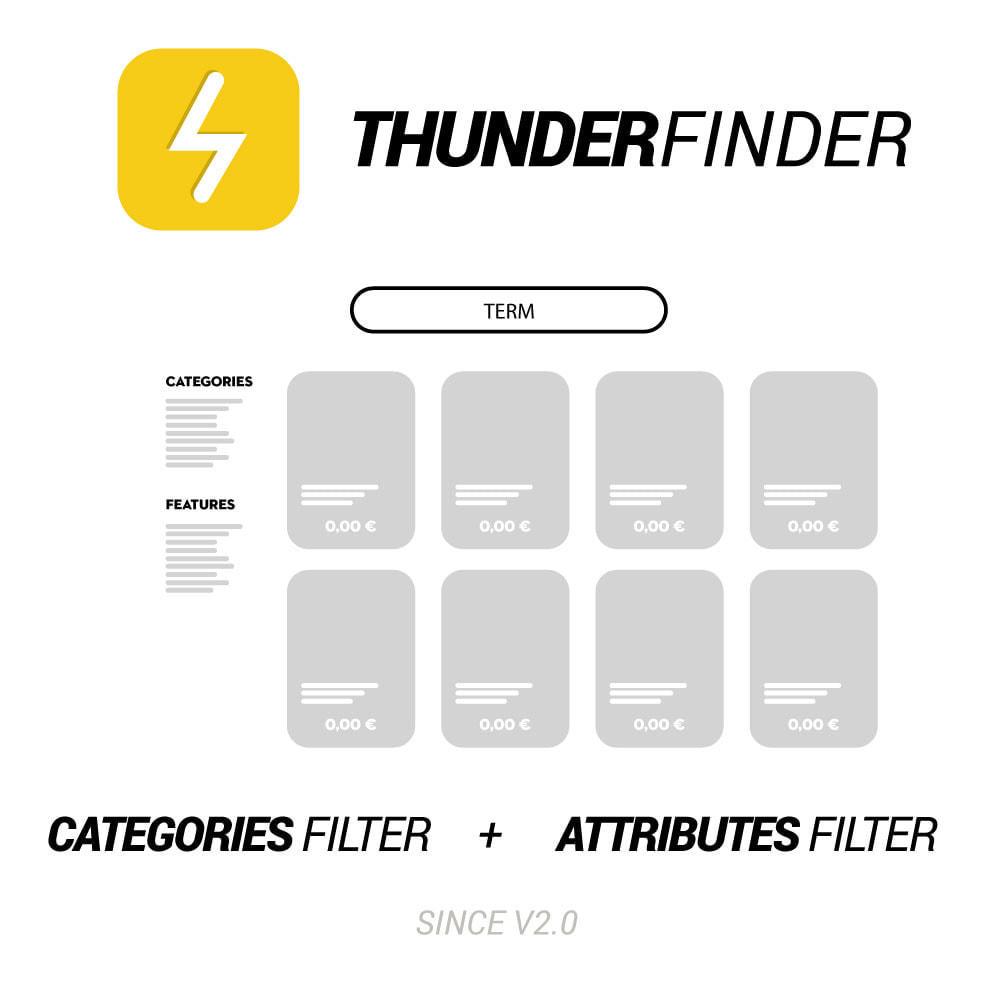 module - Recherche & Filtres - ThunderFinder Instant Recherche - 1
