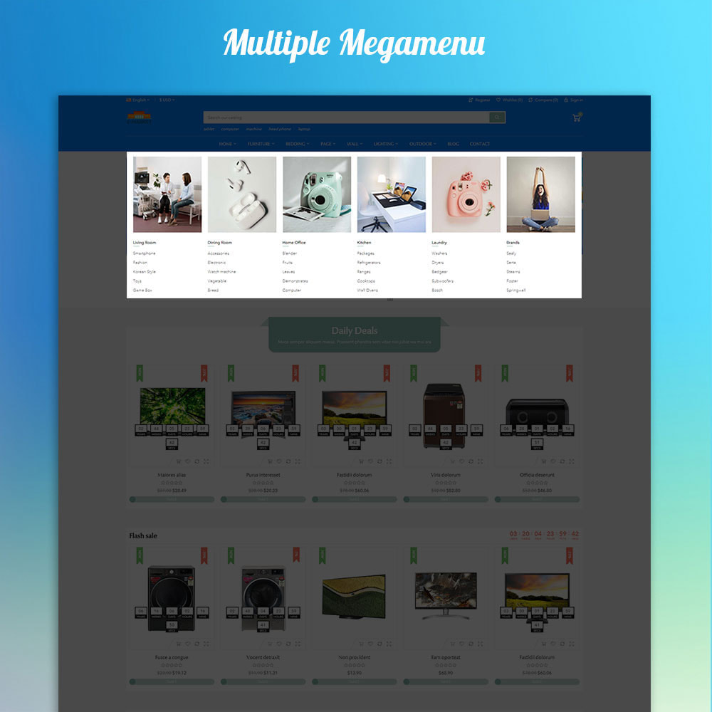 theme - Electrónica e High Tech - Emarket - Electronics & Marketplace online store - 2