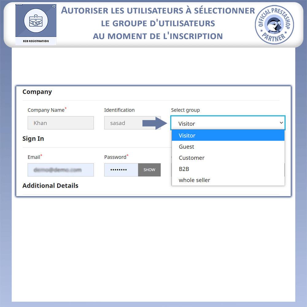 module - Inscription & Processus de commande - Inscription B2B - 5