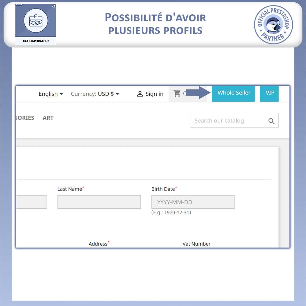 module - Inscription & Processus de commande - Inscription B2B - 3