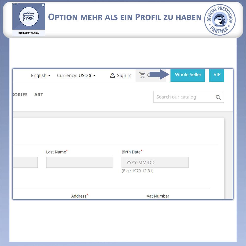 module - Anmeldung und Bestellvorgang - B2B-Registrierung - 3