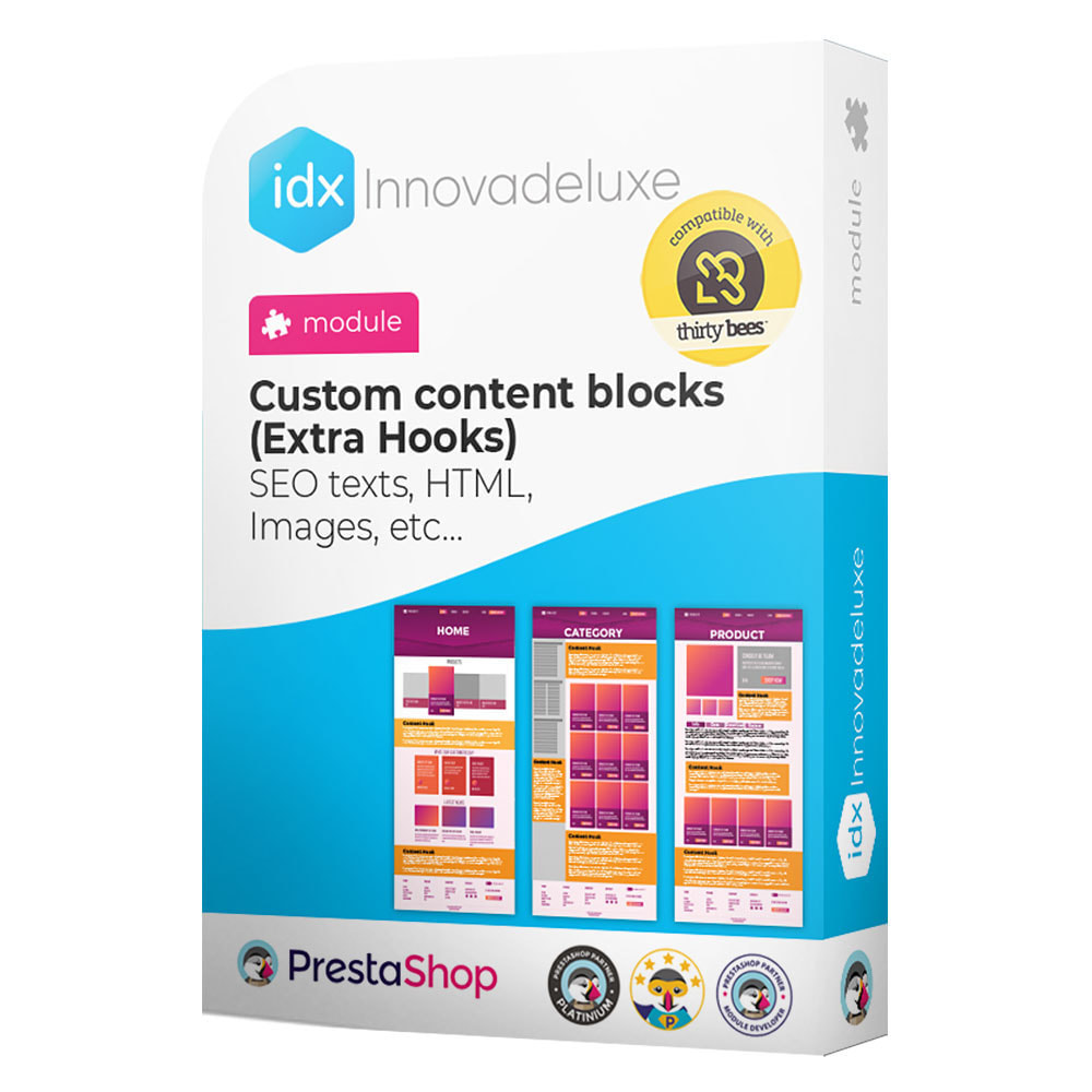 module - SEO (Pozycjonowanie naturalne) - Custom content blocks (SEO Text, HTML, Links, Images) - 1