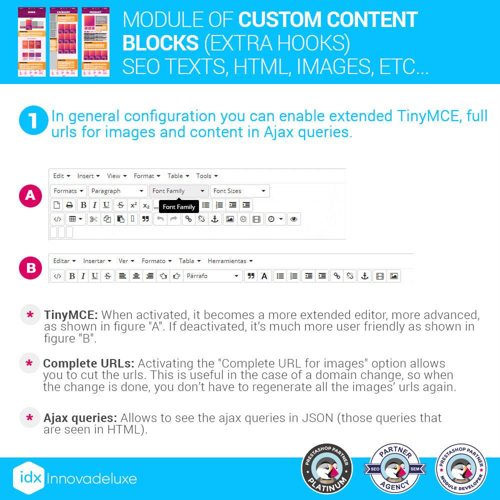module - SEO (Pozycjonowanie naturalne) - Custom content blocks (SEO Text, HTML, Links, Images) - 2