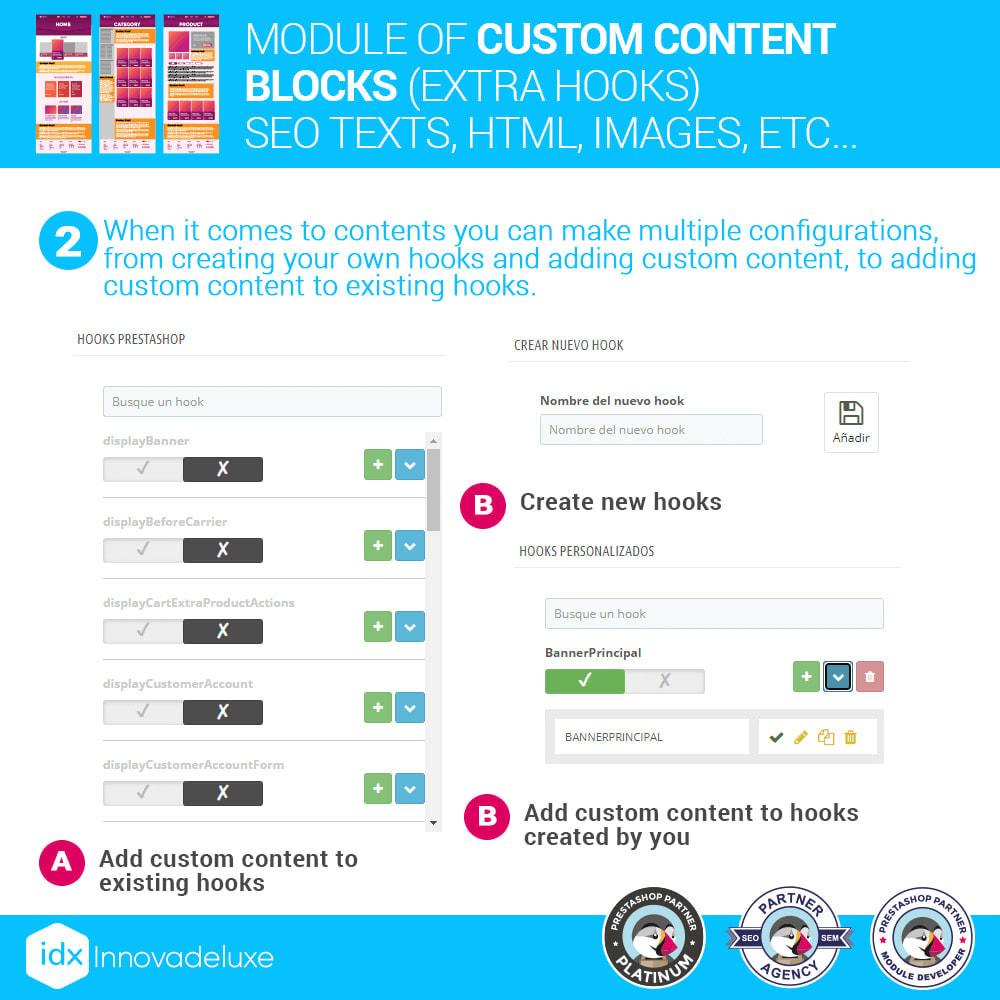 module - SEO (Pozycjonowanie naturalne) - Custom content blocks (SEO Text, HTML, Links, Images) - 3